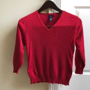 Red Gap Cotton Sweater